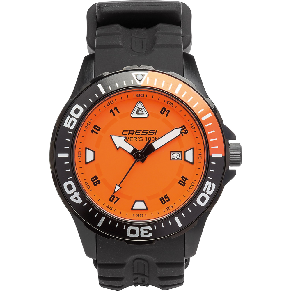 APOSTOLIDISDIVE CRESSI Manta WATCH Black Black Orange